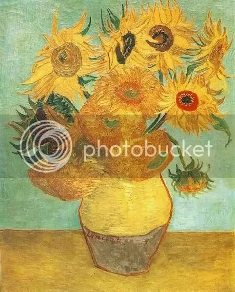 Zonnebloemen, primera repetición (1889), Van Gogh