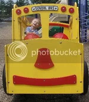 Bunny driving bus