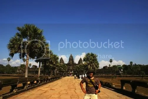 my first photo in angkor wat