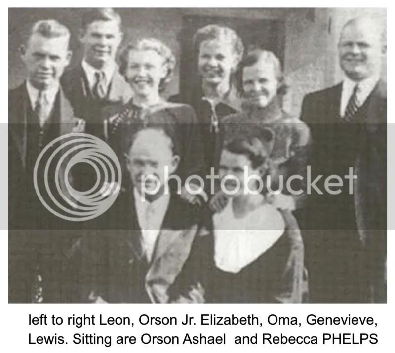 Orson PHELPS Family