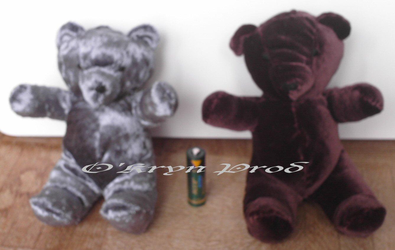 ours en peluche + patron