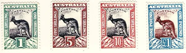 Gerald King - Alternative Australia - 1911. Baldy Essays (High Values Stamps - Front - First printing)