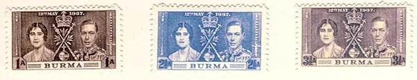 Gerald King - Alternative Burma - 1937 King George VI Coronation