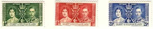 Alternative Gilbert & Sullivan Islands - 1937. Gilbert & Sullivan Islands, King George VI Coronation (Stamps)