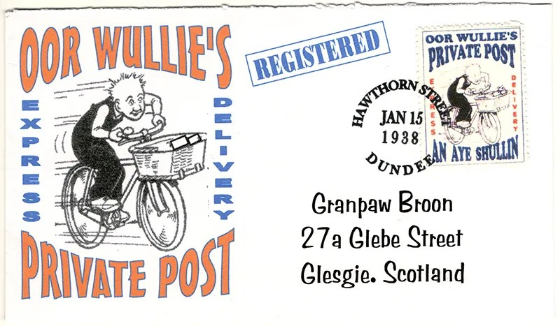 Gerald King - Oor Wullies Private Post - Express Delivery Cover (Front)