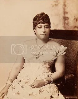 A photo of the young crown princess Liliuokalani.