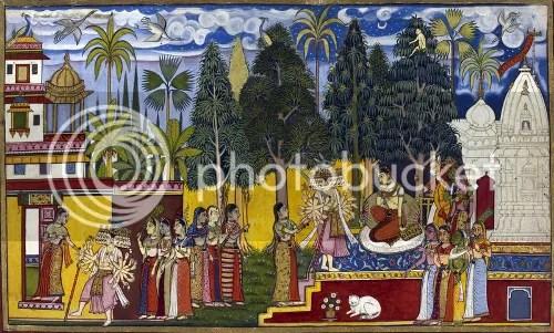 Sita at Asokavana (via Wikipedia)