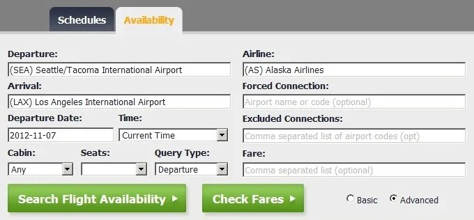 Access Airline Fare Class Availability Free With Flightstats