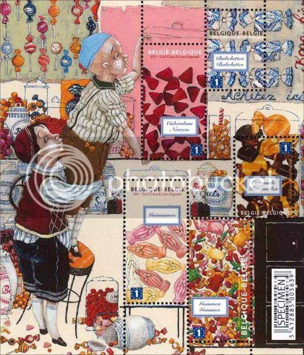 Pretty Things - Snoep van bij ons postzegels