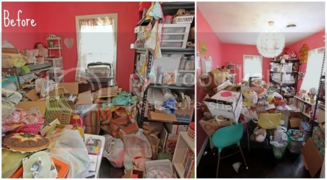 Pretty Things - Crafytminx's craft room before & after