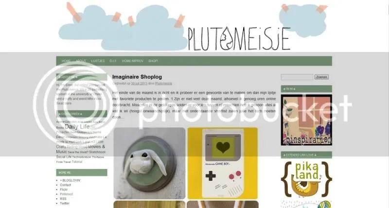 Plutomeisje.be - nieuw blogdesign