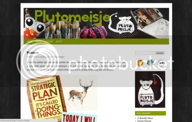 Printscreen blog lay-out