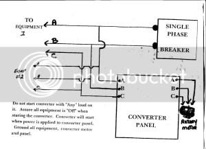 Rotary Phase Converter Wiring