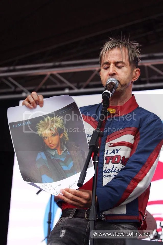 Limahl on stage yesterday