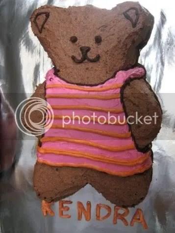 Teddy bear cake for Kendra