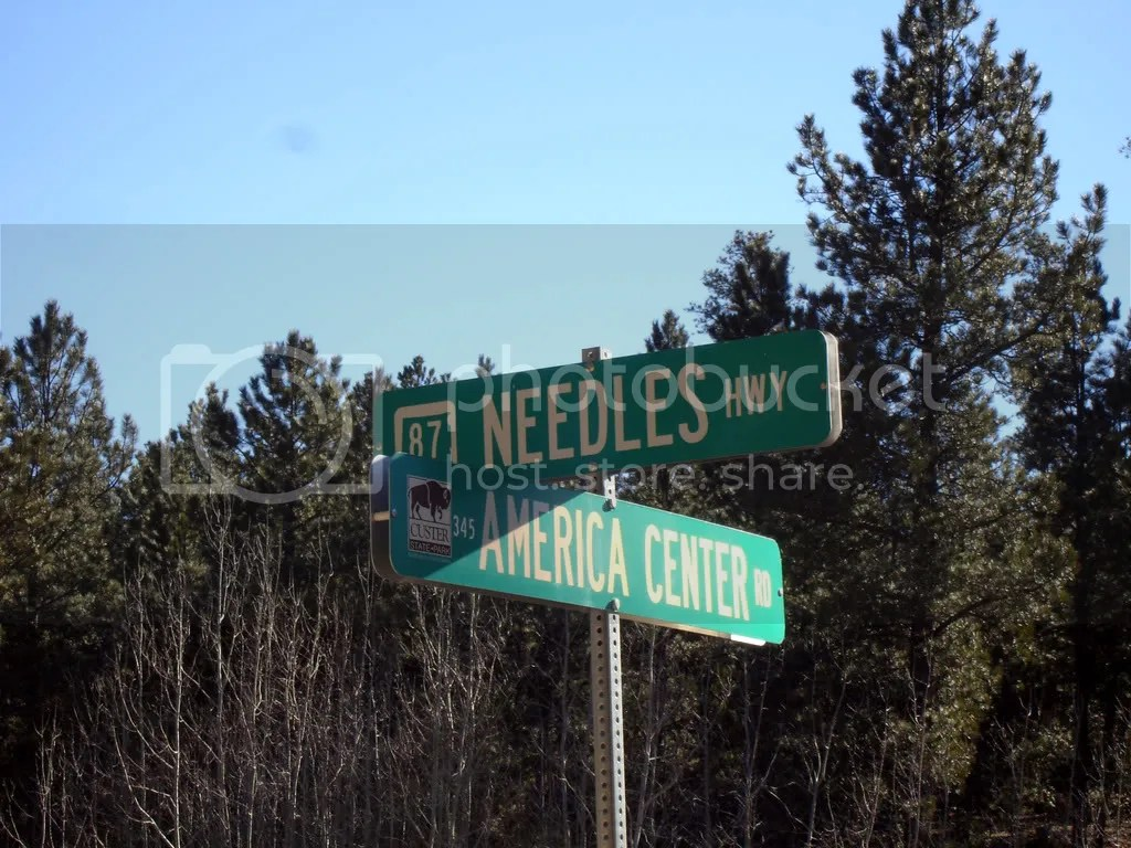 Needles Street Sign