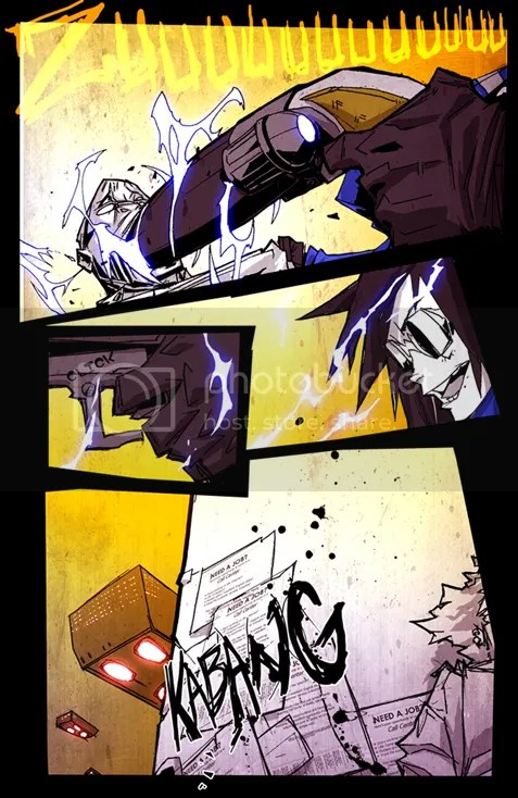 Violator Union Comic Page Sample