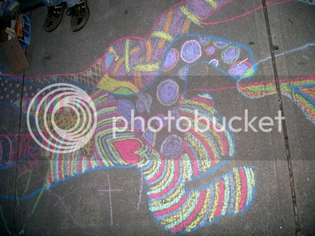 kpao! sidewalk drawing