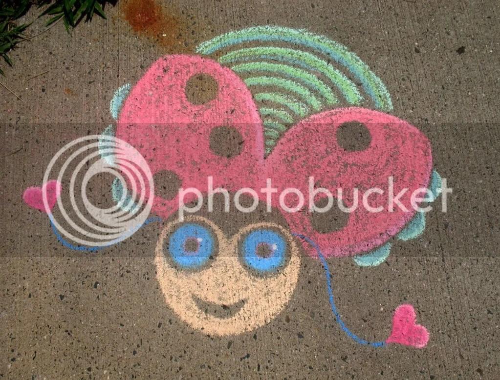 sidewalk chalk drawing by StephG