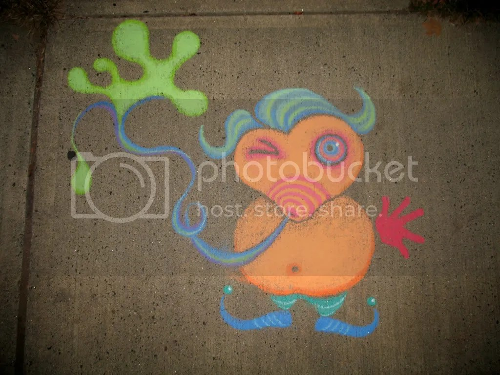 sidewalk chalk drawing by stephg