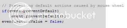 Handling Default Actions