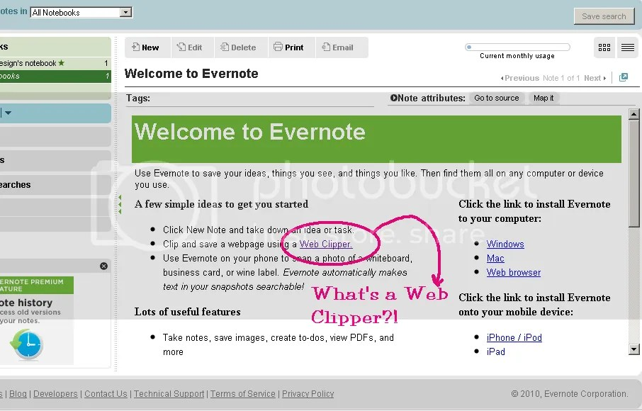 Evernote's Web Clipper