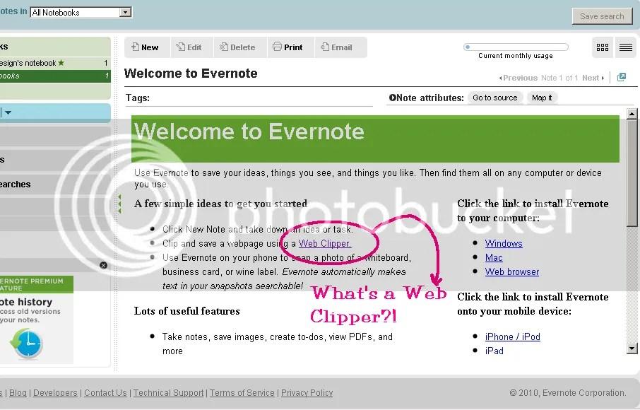 Evernote's Web Clipper
