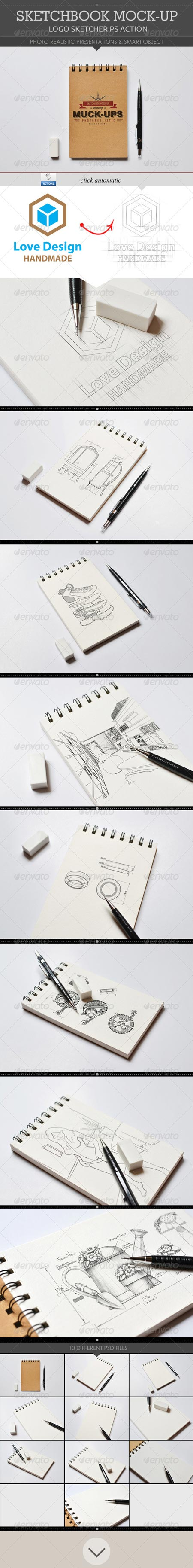 GraphicRiver Sketchbook Mock-Up 8613061