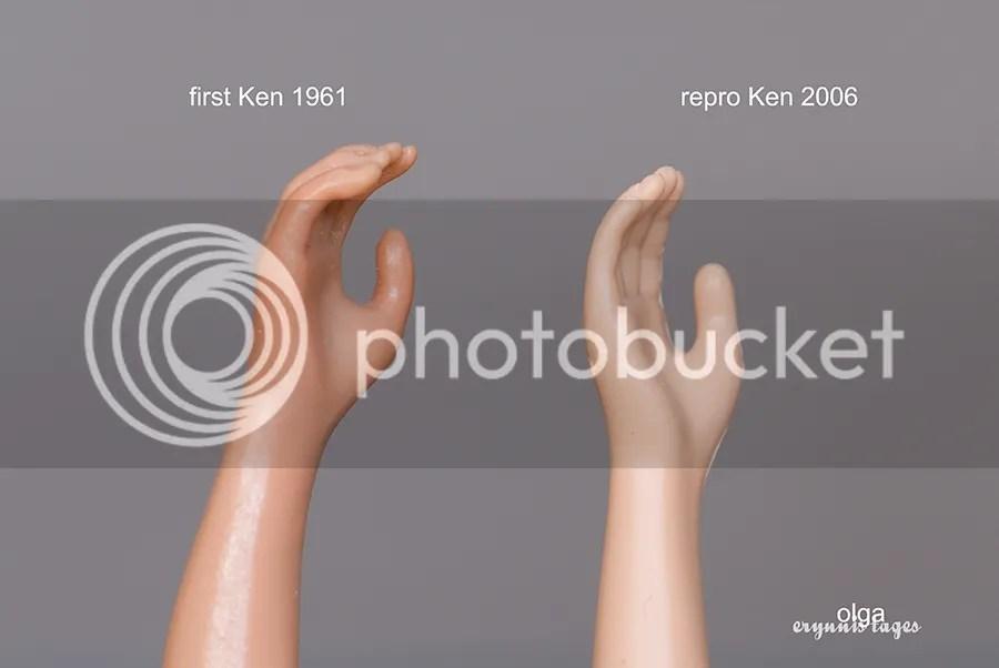 First Ken's hand vs Repro Ken's hand