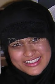 Sufiah at her wedding in Oxford UK, 18 October 2003.