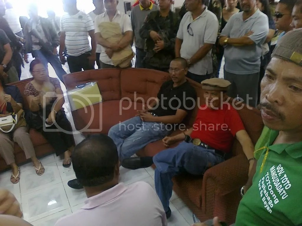 Maguindanao governor elect Esmael Toto Mangudadatu hours before he is proclaimed in Shariff Aguak