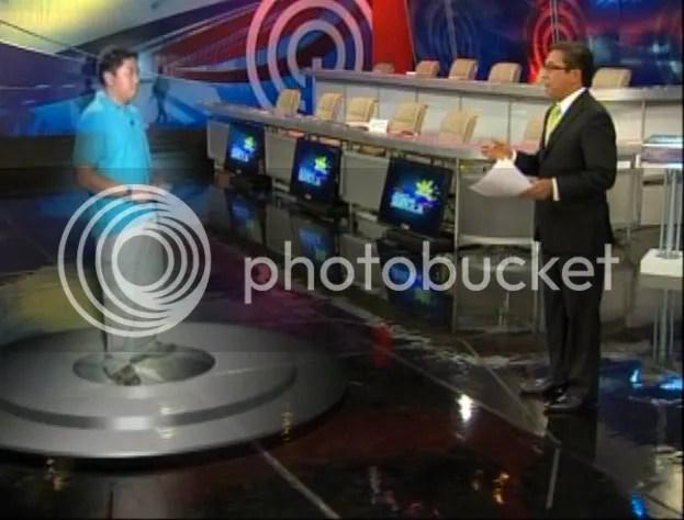 Ted Failon interviews Jorge Carino from Maguindanao via virtual presence technology