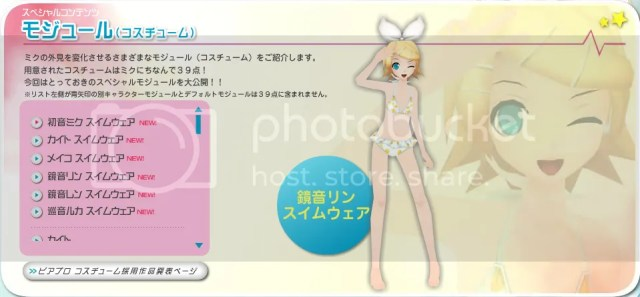 3) Rin - Swimsuit Costume