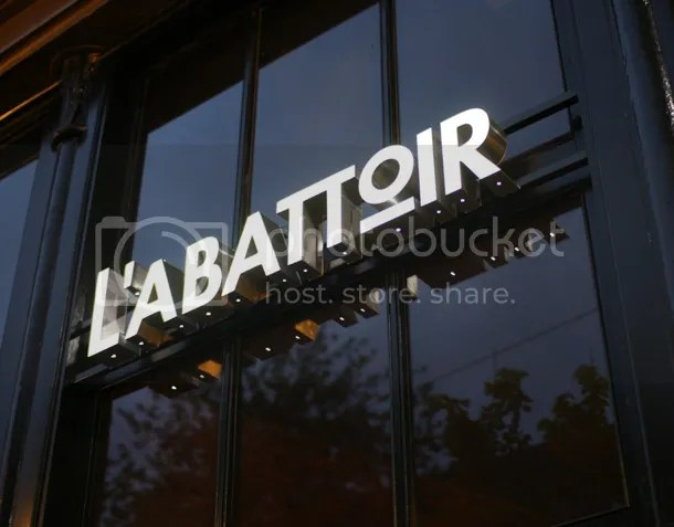 L'Abattoir sign