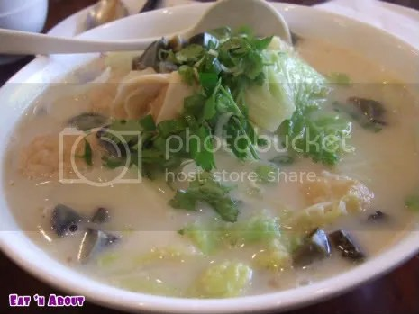 Cattle Cafe: Cilantro (they call it Parsley there) & Century Egg soup