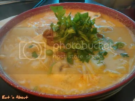 Deer Garden: Laksa soup with enoki mushrooms and fresh basa filet