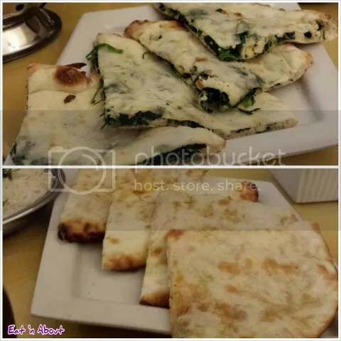 Lazymeal Mashup at Handi Cuisine of India Burnaby: Palak Paneer Naan and Aloo Naan