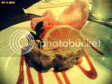 Guu with Garlic: Prawns & Avocado Wasabi mayo Tartar