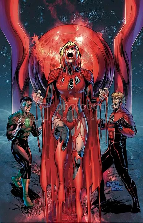 Image result for guy gardner y supergirl red lanterns
