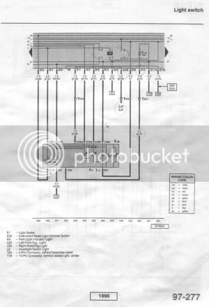 VWVortex  Need the Headlight Switch Wiring Diagram, Pin #30