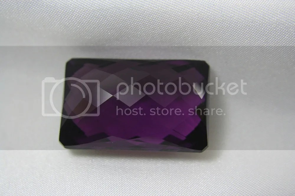 Amethyst with checkerboard cut