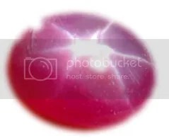 Star ruby with six-rayed star