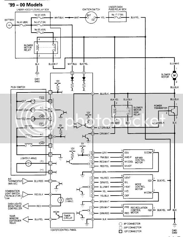 2000 honda civic wiring  wiring diagram cycledirecta