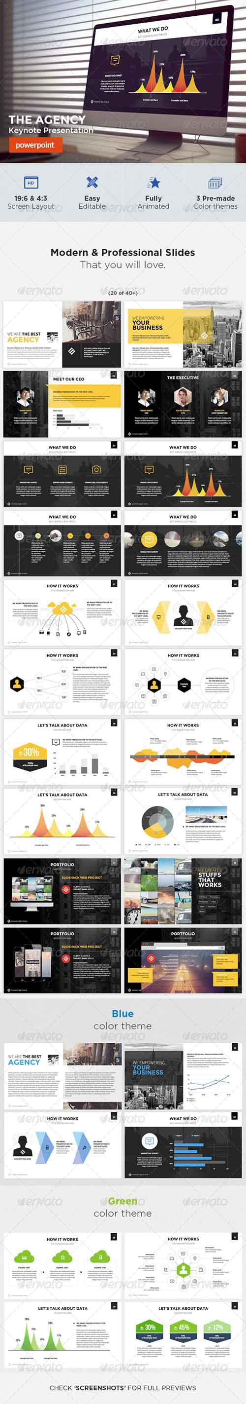 The Agency - Powerpoint Template 8004257