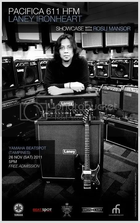 Rosli Mansor, Yamaha Pacifica 611, Laney, Ironheart