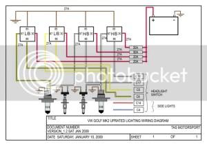 Headlight Wiring Diagram 2002 Volkswagen Golf ~ Wiring