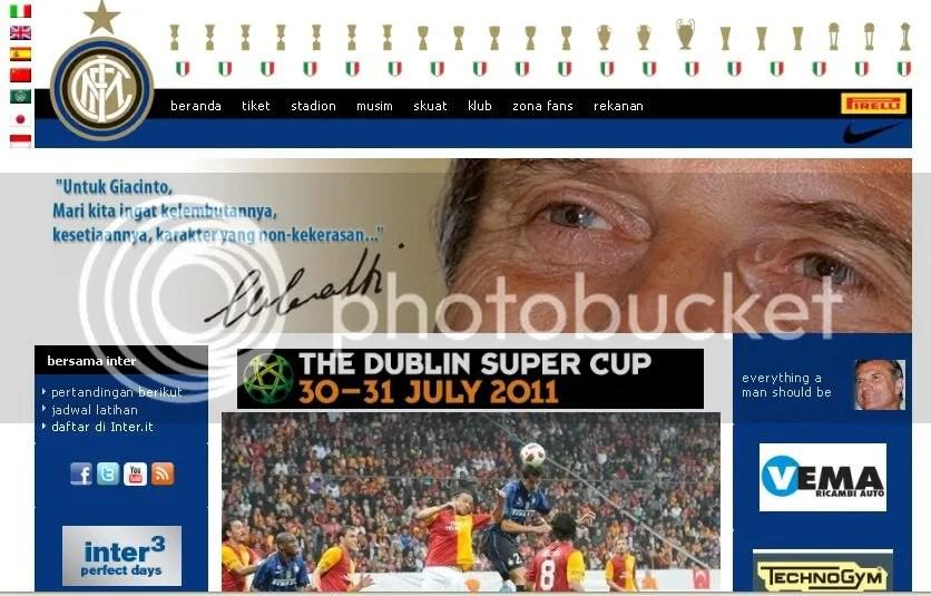 Situs Resmi Inter Milan Kini Sediakan Bahasa Indonesia
