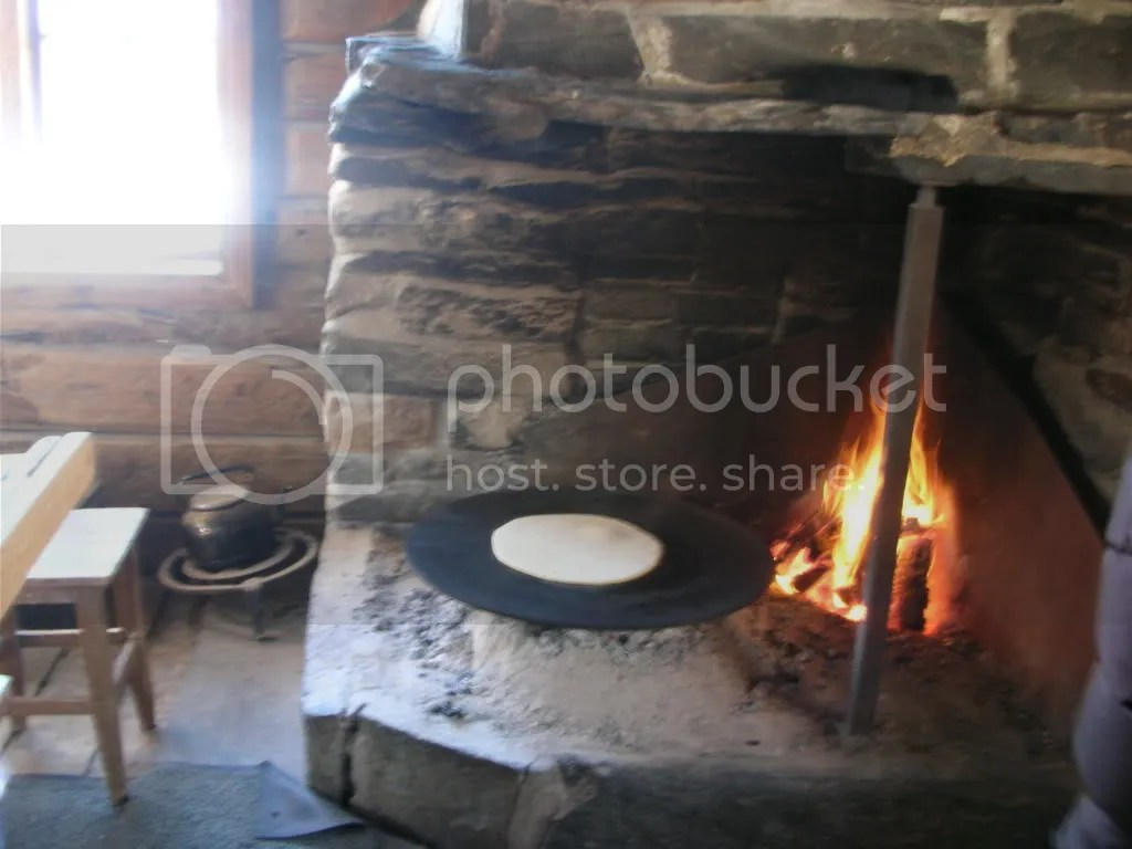 Baking Lefse on the stone hearth
