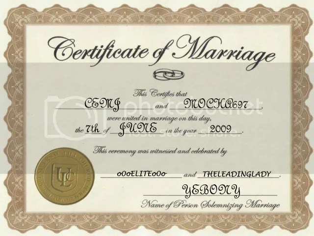 Blank Marriage Certificates In Pa