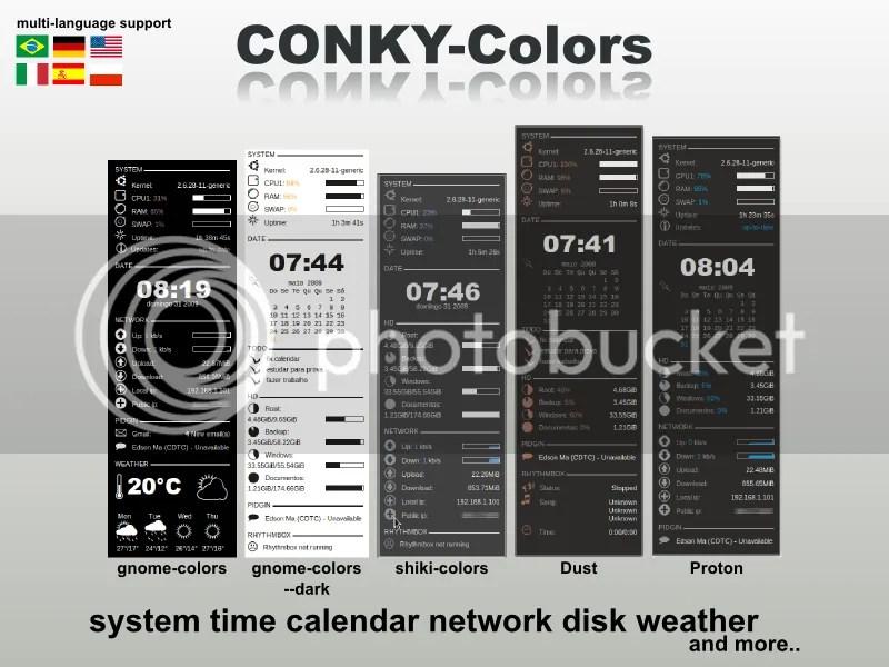 conky colors plus